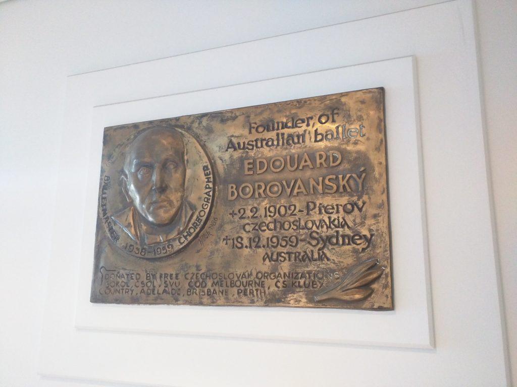 plack commemorating the founder of the Australian Ballet